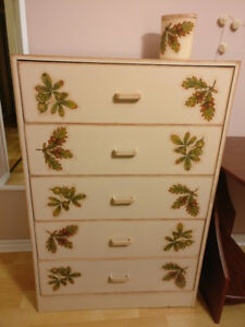 Dressers made in handmade decoupage technique