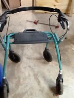 Like new  walker with seat. Good for bigger person