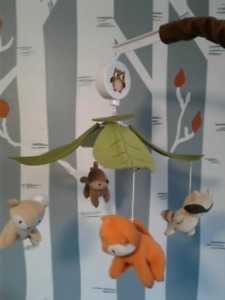 Lambs and Ivy Woodland Friends Musical Mobile