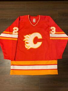 85 - 87 Calgary Flames  23 Paul Reinhart Size 48 CCM NHL Jersey 6d46eb077