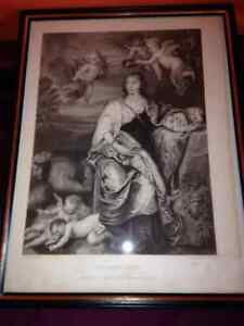 The Lady of Digby #1860 Vintage framed picture