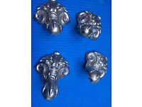 metal decorative bath feet