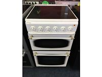 JACKSON 50CM CEROMIC TOP ELECTRIC COOKER IN WHITE. H