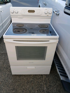 Stove with convection oven and self clean