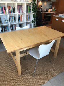 Ikea Dining Table - Great Shape, Extendible, Seats 6-8