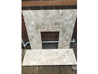 Marble fire surround for sale