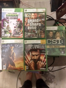 Xbox 360 for sale with 5 games