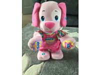 Fisher price pink dance and wiggle puppy