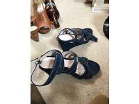 Next navy sandals, size 5 brand new
