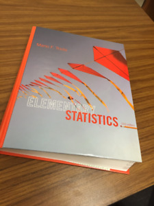Elementary Statistics Triola 12th ed Never used Hard cover