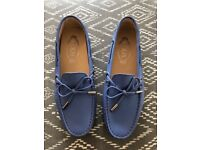 Tod's ladies Moccasin shoes in sky Blue