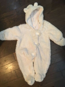 3-6 month bear snowsuit