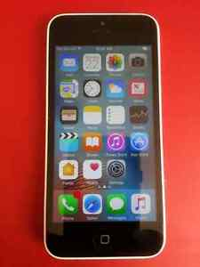 White IPHONE 5C 16GB CELL PHONE  BELL/VIRGIN