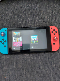 Nintendo switch plus 3 games