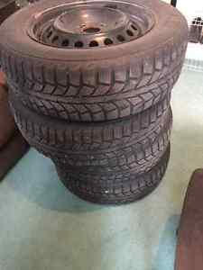 Studded winter tires 195 65R 15
