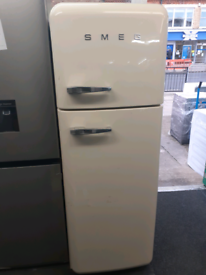 Cream smeg fridge freezer