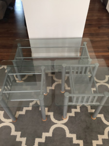 Glass Coffee Table & Side Tables