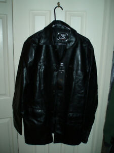 EMPORIO Faux Leather Long Jackets / Viking Waterproof Jacket