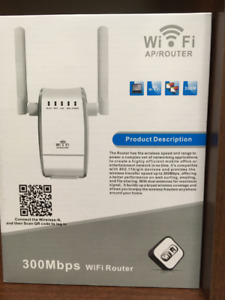 AMAKE 300Mbps Wireless Range Extender WiFi Router