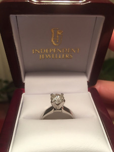 Diamond Solitaire Engagement Ring For Sale