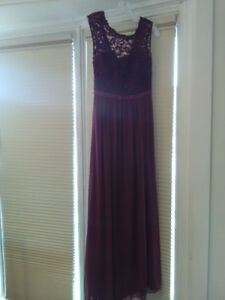 Wine David's Bridal Bridesmaid Dress Size 2