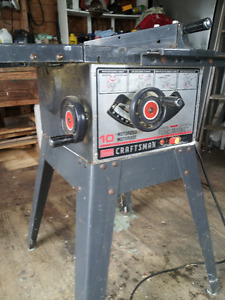 Table saw, milking stand, antique day bed, car stereo