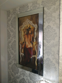 Mirror framed pictures