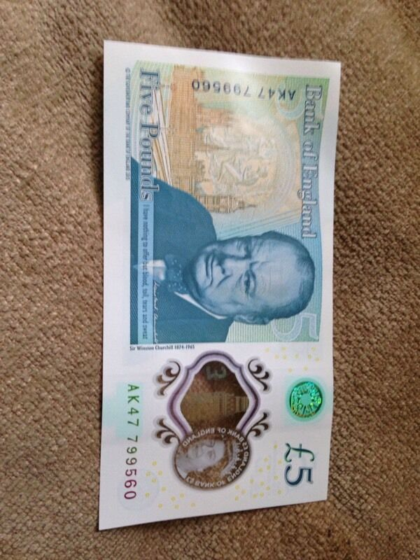 Ak47 new 5 pound note OFFERS