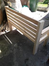 Garden bench..