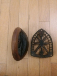 Antique Sad Iron with Stand