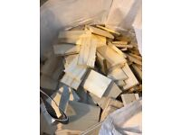 Builders bag of chopped wood. Can be used for kindling.