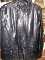 manteau de cuir doublé
