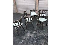 6 matching chairs