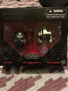 Star Wars The black series Titanium series Kylo Ren &Poe Dameron
