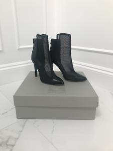 New! Reed Krakoff Leather and Mesh Ankle Boots