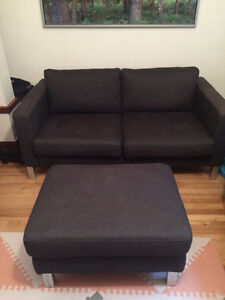 2 divans et pouf IKEA Karlstad couch and loveseat + footstool