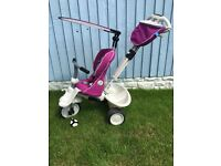 Girls smart trike recliner hardly used! From 6months