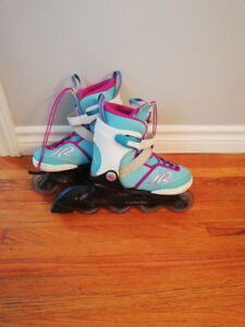 Girls rollerblades changeable sizing 1-5