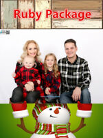 Christmas Family Photo session@U Red Deer Photography