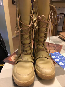 Indian made Rawhide Moscassin Boots