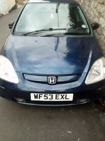 Honda Civic Hatchback 2003 - Automatic - Great local car