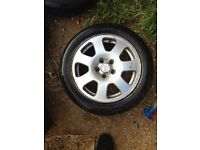 Audi a2 alloy wheel 5 stud full set original audi alloy