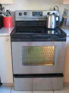 Stainless Steel Whirlpool Electric Oven Cooktop -Appliance