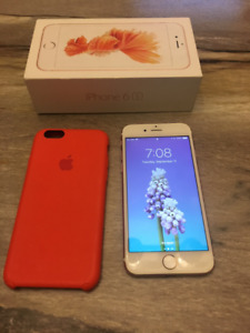 Unlocked Iphone 6s Rose Gold 64GB in pristine condition
