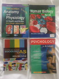 Sociology, anatomy and physiology and psychology college and uni books