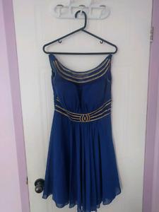 Robe de soirée bleu gitane