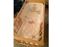 Mamas and papas glider crystal crib and mamas and papas Moses basket