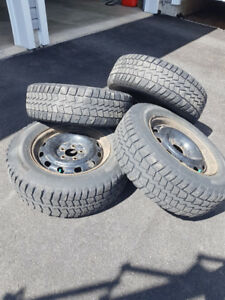 Winter tires on rims 215-70-16