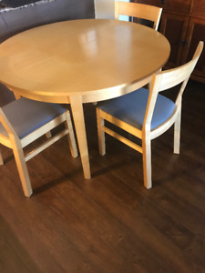 IKEA BJURSTA birch table with 3 chairs - moving sale