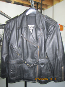 LEATHER Ladies Motorcycle Jacket Size 14